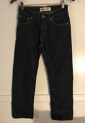 Mens Boys Levis 514 Slim Fit Straight Leg 16 Reg 28X28 dark blue