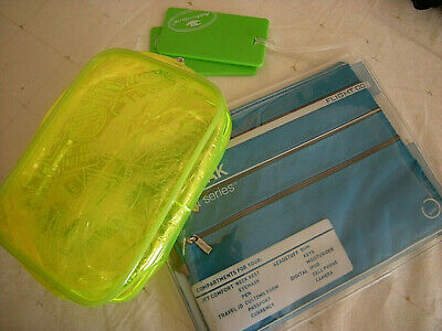 Flight 001 Seat Pak Airplane Organization Travel Bay, Neon Quart Bag Carry On