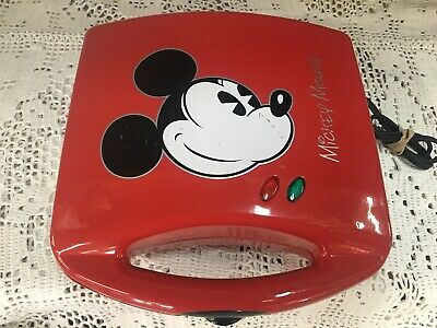 Disney Themed Mickey Mouse Red Sandwich Maker Makes Two Sandwiches