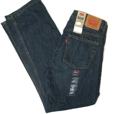Levis 505 Straight Fit Jeans Size 18 Regular 29 X 29 NWT New Mens Boys