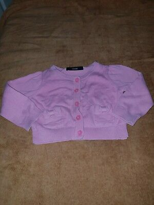 Girls 12-18 Months pink Top Jumper Jacket Sweater Cardigan Bow Floral Next Day