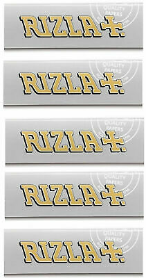 Rizla Silver Single Ultra Thin Smoking Cigarette Tobacco Rolling Papers 5 Packs