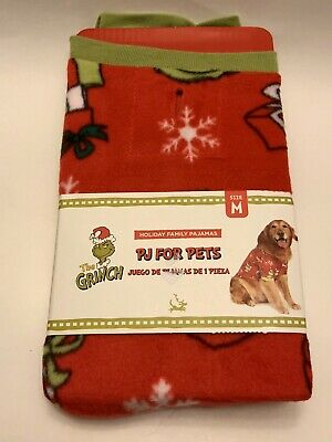 Dr. Seuss 🎄THE GRINCH🎄PJ's For Pets Dog Christmas Sweater Holiday 2XL New