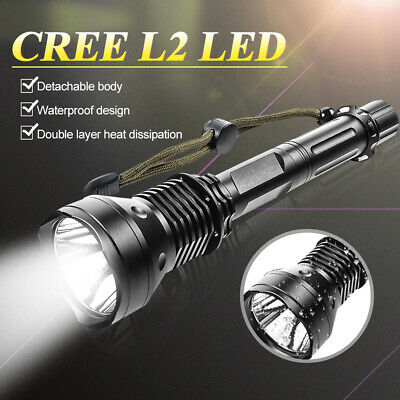 CREE XML2 USB LED Detachable 90000Lm 18650 Rechargeable Battery Flashlight Torch