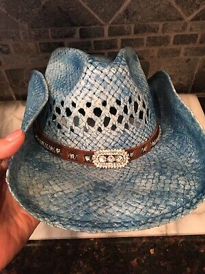 NEW Bullhide Hats 2841 Run A Muck Collection Wild And Blue Blue Cowboy Hat