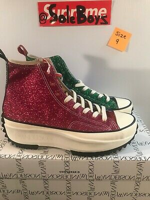CONVERSE X JW Anderson Run Star Hike Hi Glitter Shoes Mens