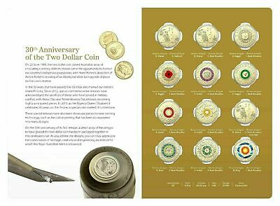 2018 UNC $2 30th Anniversary of TWO DOLLAR 12 Coin Collection