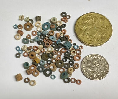 More than a hundred 2500 Year old Ancient Egyptian Faience Mummy Beads (#L2745)