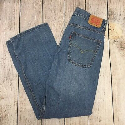 Levis 550 Relaxed Jeans Boys/ Mens 18 Regular 29x29 Red Tab Blue Medium Wash