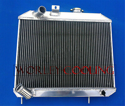 3 Row Aluminum Radiator For 1941-1952 JEEP Willys 42 43 44 45 46 47 48 49 50 51