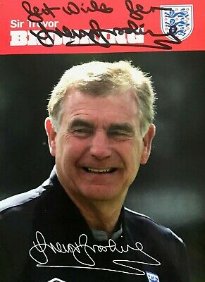 Sir Trevor Brooking, CBE , West Ham Manager,  Hand signed autographed photo COA