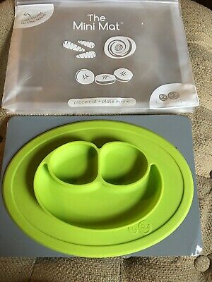 eZpZ The Mini Mat Green Silicone Baby Toddler Placemat Plate
