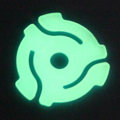 5 Glow in the Dark 45 rpm Vinyl Record Inserts Adaptors, Spindles, Centres