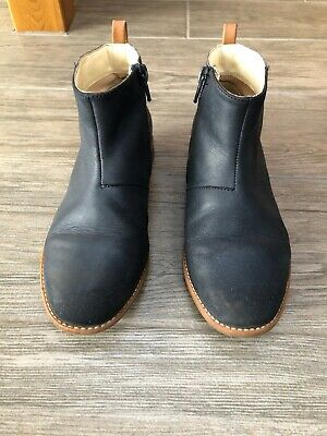 Girls Size 1F Clarks Navy Ankle Boots