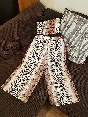 Quiz, Animal Print, Crop Top & Culottes , Co-ord, High Waisted, Size 12