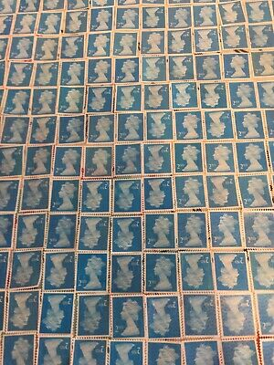 2000 x 2nd Class Security Stamps Unfranked Off Paper No Gum