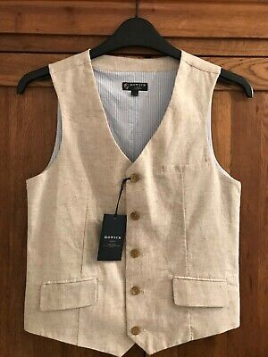 Howick boys age 11-12 some coloured tailored waist coat • BNWT
