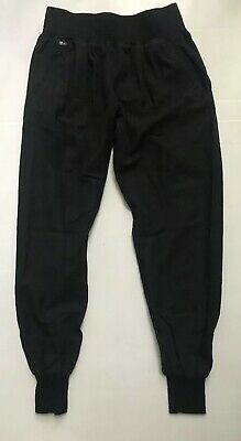 Lacoste Womens 2 XS Black Joggers Pants Pull On Relaxed Cotton Wool Blend Career