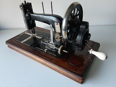 Early 1900's  Winselmann Sewing Machine with wooden case