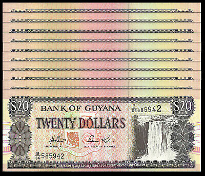 P 34 SIGN 12 UNC 2006 GUYANA 500 DOLLARS ND 1996