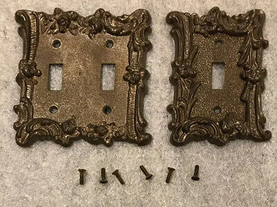 Lot of 2! Vintage Edmar Single Light Switch 60T and Double 60TT Covers Plates