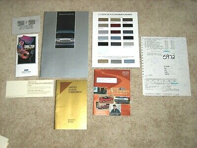 1991 LINCOLN TOWN CAR catalog, Exterior Colors tri-fold, Accessories booklet +++