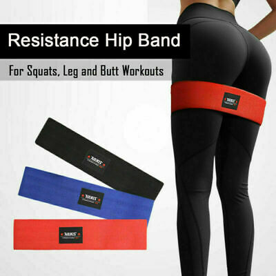 Resistance Hip Band Loop Circle Exercise Workout Fitness Yoga Squat Booty Leg US