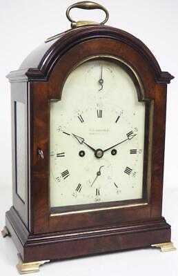 Antique 18thC English Mahogany Twin Fusee Pad Top Bracket Clock Thomas Worsfold