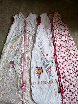 Two Baby Girls' 1 Tog Grobags (18-36 Months)