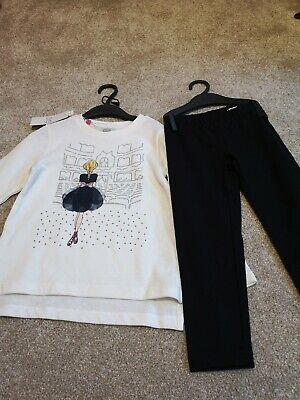 BNWT Girls' OVS Kids 2-piece Leggings And Top Set Age 3-4)