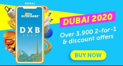 Dubai Entertainer 2020 + Cheers - 7 Days - Brand New + Attractions