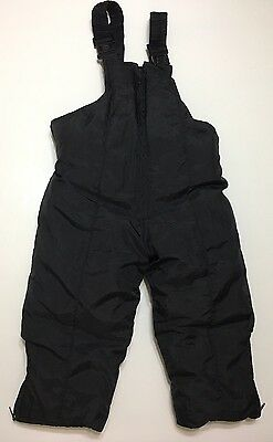 SKI SLOPE Toddlers Youth Ski Snow Suit Pants Bib Overalls 2T Black INSULATED EUC