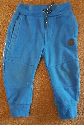 F&F Age 12-18 Months Blue Boys Joggers With Tie