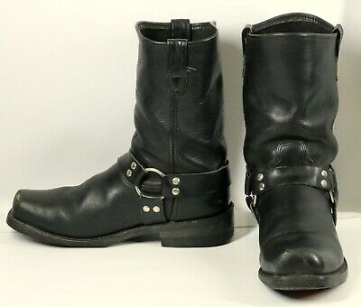 Double H Harness Boots Black Leather Mens Size 12 EE Extra Wide Motorcycle Biker