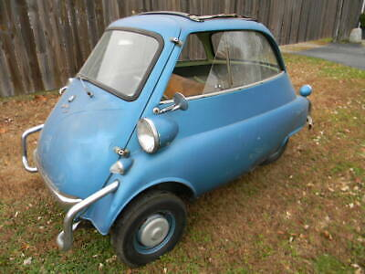 1957 BMW Isetta Micro Car To Restore , Free Shipping !