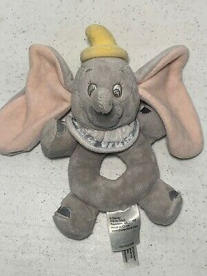 Disney Dumbo Elephant Grey Baby Rattle