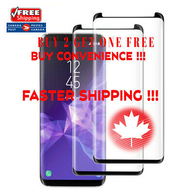 Case Friendly Curved Tempered Glass Screen Protector for Samsung Galaxy S9 S9+