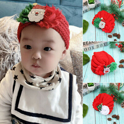 Headwrap Knitted Baby Hat Christmas Photography Accessories Baby Winter Hat