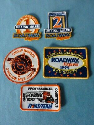 Roadway Express Trucking 1 One 2 Two Million Mile Safe Driving Award Patch Pin