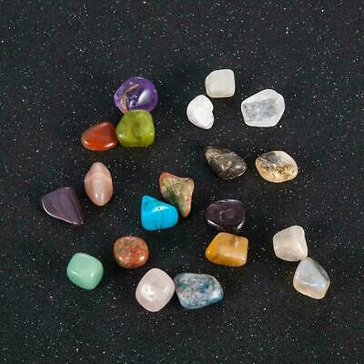 20pc Healing Reiki Polished Chakra Stone Crystal Natural Polished Chakra St I4S4