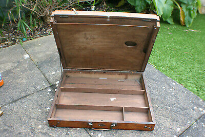 Vintage Used Wooden Box for Storing Oil Colour Paint