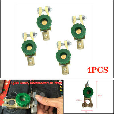4X Car Battery Link Terminal Quick Cut-off Disconnect Master Kill Shut Switch