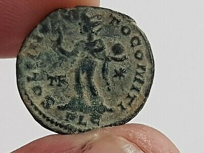 Museum Quality Rare Mint Ancient Roman Bronze Coin Constantinus 2,9 Gr 19 Mm