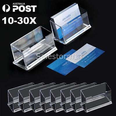 10/20/30PCS Business Card Holder Plastic Display Stand AU