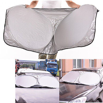 EV_For Car Front/Rear Windshield Retractable Cover Curtain Sunshade Shield ViLD