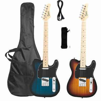 """Glarry 39"""" Maple Fingerboard Electric Guitar Classic Bag Strap Cable Beginner A+"""