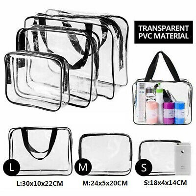 3PZ Makeup Bag Travel Airport Airline Zompliant Bag Waterproof Seal Bag BE6