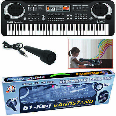 Digital Electric Keyboard Piano Music Electronic 61 Keys Organ Mini Microphone