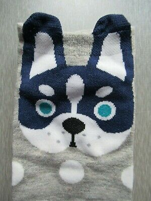 NEW Ladies Girls (1 Pair) Husky Puppy Trainer Socks FREE P&P