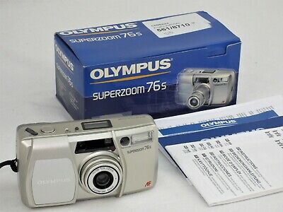 Olympus Superzoom 76s 35mm film camera AF + Box and Instructions **FILM TESTED**